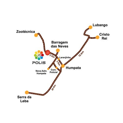 Mapa localização POLIS